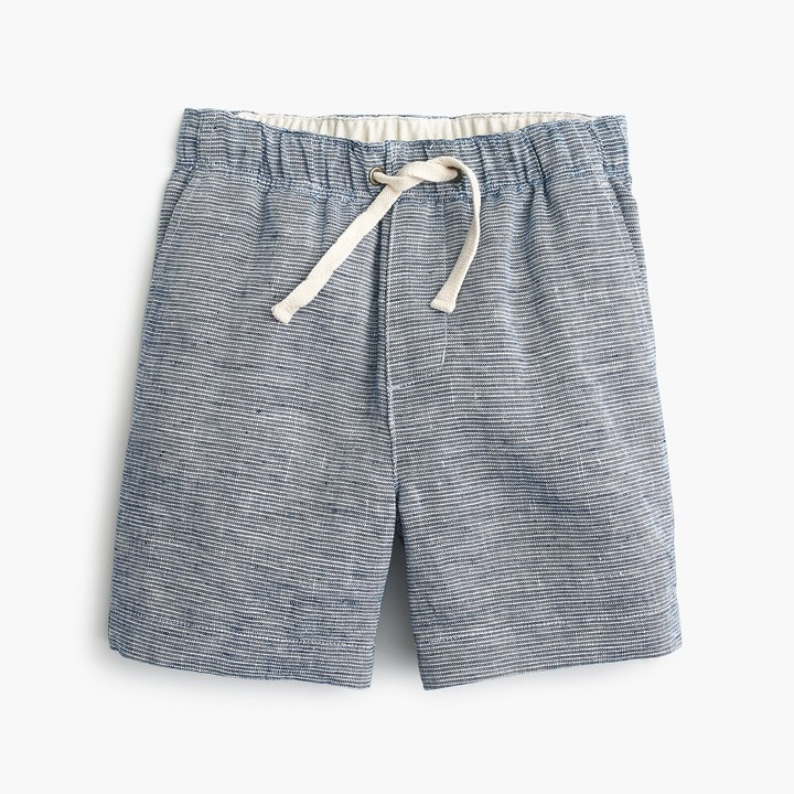 J.Crew Boys' dock short in striped cotton linen