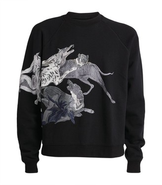 Reese Cooper Embroidered Dogs Sweater