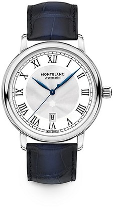 Montblanc Star Legacy Stainless Steel & Alligator Strap Watch