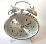 Mechanical Oval Bell Clock Colour: Silver