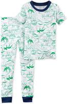 Carter's 2-Pc. Dinosaur-Print Cotton Pajamas, Little Boys & Big Boys