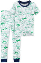 Carter's 2-Pc. Dinosaur-Print Cotton Pajamas, Toddler Boys