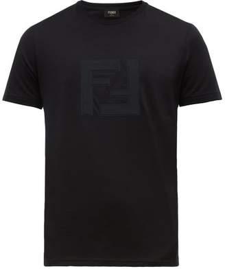 Fendi Ff-applique Cotton-jersey T-shirt - Mens - Black