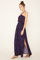 Forever 21 Strapless Abstract Maxi Dress