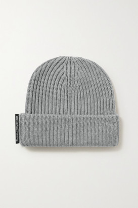 Alexander Wang Ribbed Merino Wool Beanie - Gray