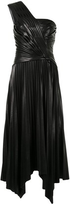 Jonathan Simkhai One Shoulder Draped Dress