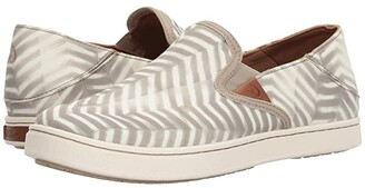 OluKai Pehuea Pa'i (Silt/Off-White) Women's Shoes