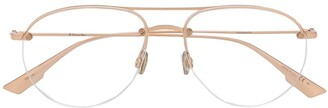 Christian Dior Stellaire aviator-frame glasses