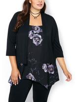 Penningtons 3/4 Sleeve Cardigan with Chiffon