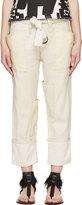 Isabel Marant Ecru Linen Vega Trousers