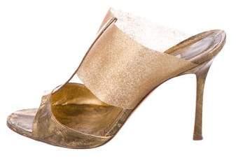 Manolo Blahnik Rip Side Sandals