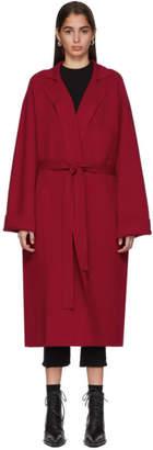 Haider Ackermann Red Knit Cashmere Coat
