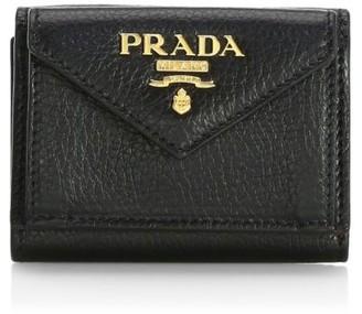 Prada Mini Daino Color Leather Wallet