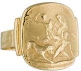 Tagliamonte 14K Greco-Roman Signet Ring