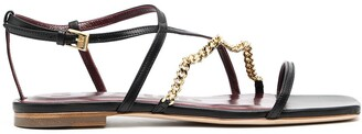 STAUD Chain Strap Detail Sandals
