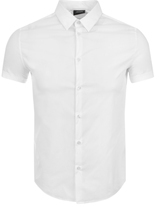 Giorgio Armani Jeans Short Sleeved Slim Fit Shirt White