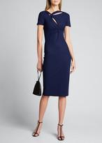 Chiara Boni Short-Sleeve Knot Dress