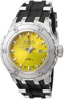 Invicta Men's 6183 Reserve Collection GMT Stainless Steel Black Rubber Watch