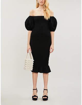 Jo-Jo NEVER FULLY DRESSED Jojo off-the-shoulder puff-sleeve cotton midi dress