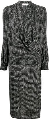Ports 1961 Chevron-Print Silk Dress