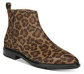 Via Spiga Women's Emelin Leopard Print Ankle Booties