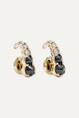 ara Vartanian - Hook 18-karat White Gold Diamond Earrings