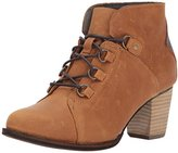 Caterpillar Women's Arbor Waterproof Lace up Bootie with Stacked Heel Ankle Boot, 8.5 Medium US