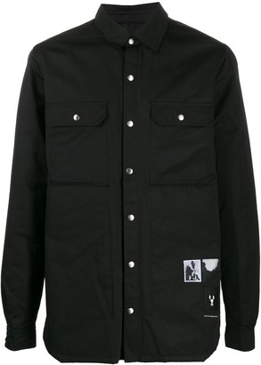 Rick Owens single-breasted fitted jacket