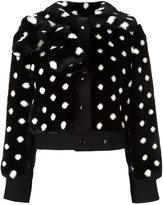 Marc Jacobs faux fur dotted jacket