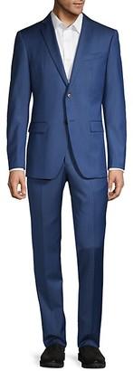 John Varvatos Slim-Fit Striped Wool-Blend Suit