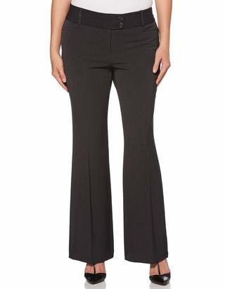 Rafaella Women's Petite Curvy Fit Short Length Gaberdine Trouser