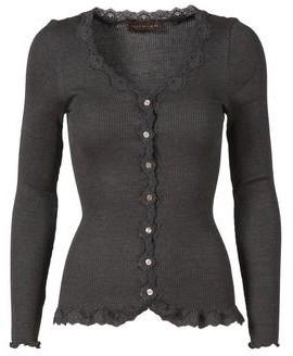 Rosemunde Vintage Lace Cardigan Dark Grey - S