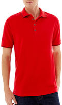 Claiborne Tipped Piqu Polo Shirt
