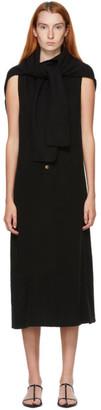 Kim Matin Black Cashmere Scarf Dress