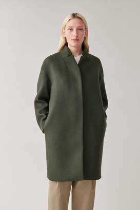 Cos WOOL COAT WITH STAND COLLAR