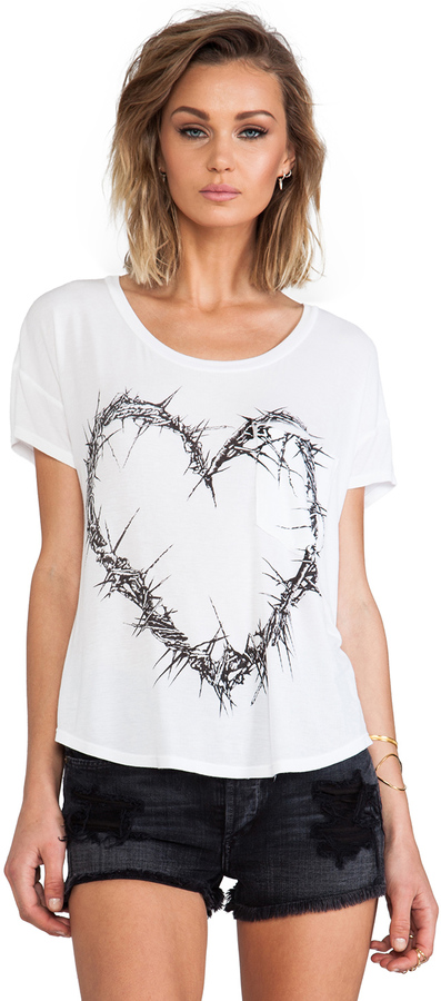Lauren Moshi Pam Thorn Heart Scoop Tee