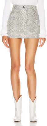 Georgia Alice Snake Mini Skirt in Ivory | FWRD
