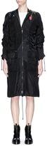 3.1 Phillip Lim Rose print ruched satin and crepe coat