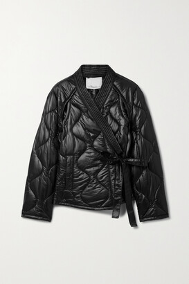 3.1 Phillip Lim - Belted Quilted Ripstop Jacket - Black