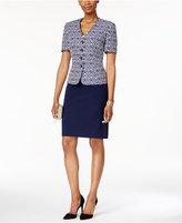 Tahari ASL Printed Jacquard Skirt Suit