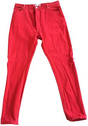 RE/DONE Red Cotton Jeans