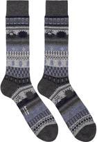 Paul Smith Grey Pattern Socks