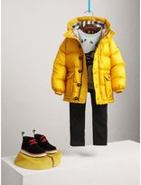 Burberry Shower-resistant Hooded Puffer Jacket , Size: 14Y, Yellow