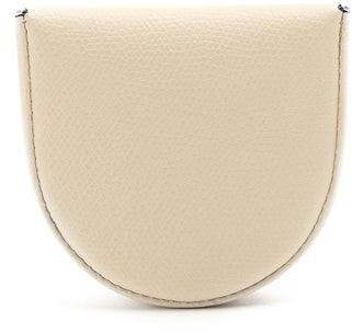 Valextra Grained-leather Coin Purse - White