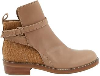 Acne Studios Beige Leather Boots