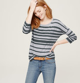 LOFT Striped Drop Shoulder Tee
