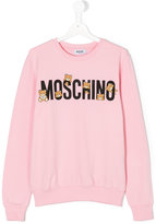 Moschino Kids - Teen teddy logo print sweatshirt - kids - Cotton/Spandex/Elastane - 14 yrs