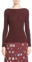 Nordstrom Scoop Back Cashmere & Silk Pullover
