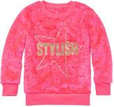 Total Girl Long-Sleeve Fuzzy Sweatshirt - Girls 7-16 and Plus