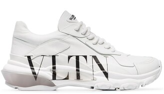 Valentino Garavani White Bounce low top leather sneakers
